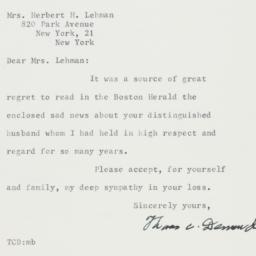 Letter : 1963 December 7