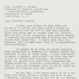 Letter : 1943 June 24