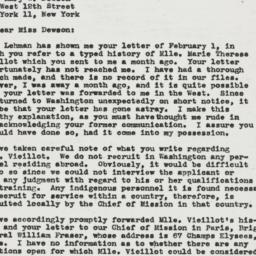 Letter : 1946 February 9