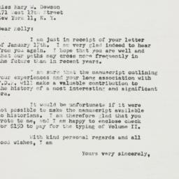 Letter : 1952 January 21