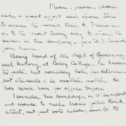 Letter: 1954 July 2
