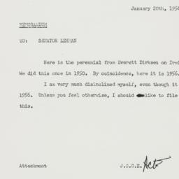 Memorandum : 1956 January 20