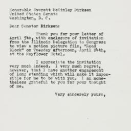 Letter : 1956 April 9