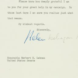 Letter: 1950 May 27