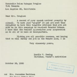 Letter: 1950 October 26