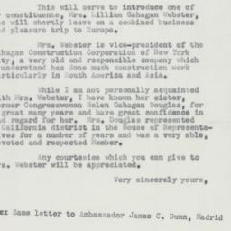 Letter: 1954 October 5