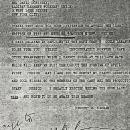 Telegram : 1939 March 31