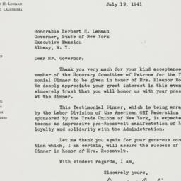 Letter : 1941 July 19