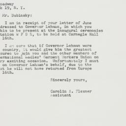 Letter : 1949 June 6