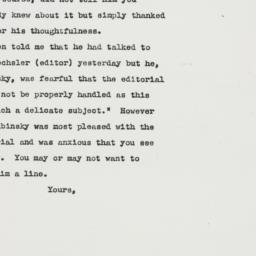 Letter : 1949 July 12