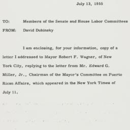 Memorandum : 1955 July 13