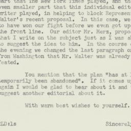 Letter : 1959 January 7