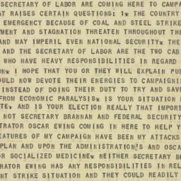 Telegram : 1949 October 23