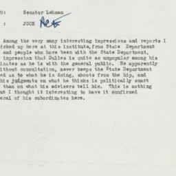 Memorandum : 1957 July 19