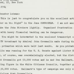 Letter : 1962 June 4
