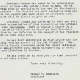 Letter : 1962 June 7