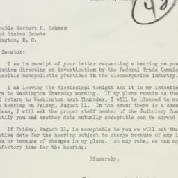 Letter : 1950 August 4