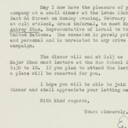Letter : 1949 January 20