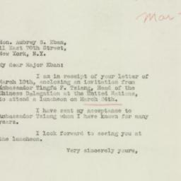 Letter : 1949 March 11