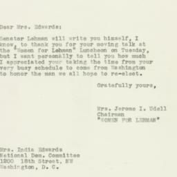Letter : 1950 November 3
