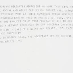 Telegram : 1942 February 12