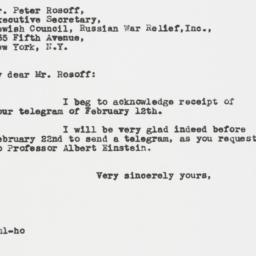 Letter : 1942 February 13