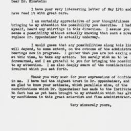 Letter : 1954 May 25