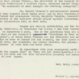 Letter : 1953 April 17