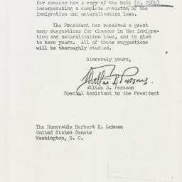 Letter : 1953 August 14