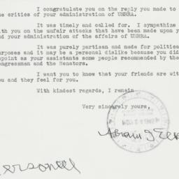 Letter : 1945 November 21