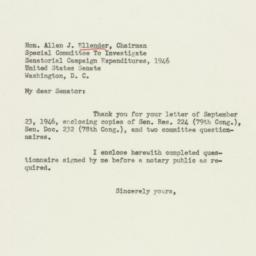 Letter : 1946 September 28