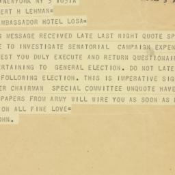 Letter : 1946 December 3