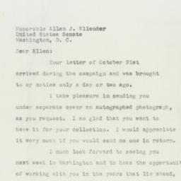 Letter : 1950 November 22
