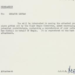 Memorandum : 1958 October 20