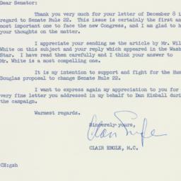 Letter : 1958 December 18