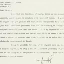 Letter : 1933 January 20