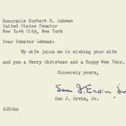 Letter : 1956 December 18