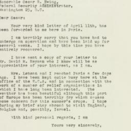 Letter : 1949 April 16