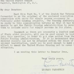 Letter : 1954 December 24