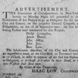 Document, 1774 July 04