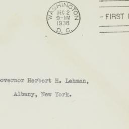 Envelope: 1938 December 2