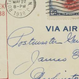 Envelope: 1938 May 22