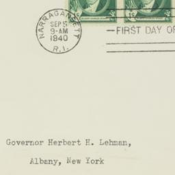 Envelope: 1940 September 5