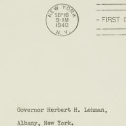Envelope: 1940 September 16