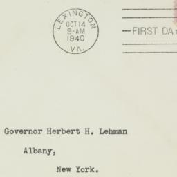 Envelope: 1940 October 14