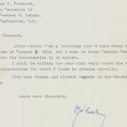 Letter : 1952 January 20