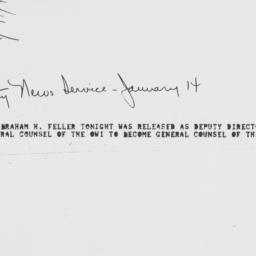 Press release : 1944 Januar...