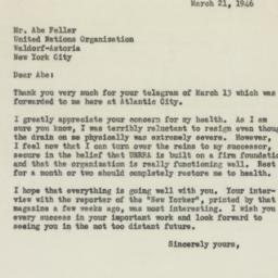 Letter: 1946 March 21