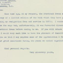 Letter: 1947 March 22