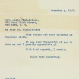 Letter : 1937 December 8